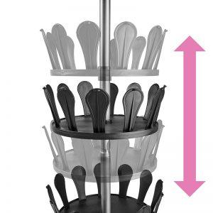 Zapatero vertical y giratorio