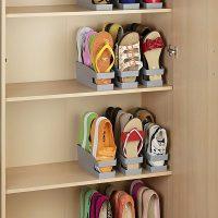 Con este soporte organizador para bailarinas, zapatos planos o chanclas podrás poner fin al desorden de tus zapatos, ganando espacio y tranquilidad.