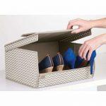 Caja de tela para guardar zapatos
