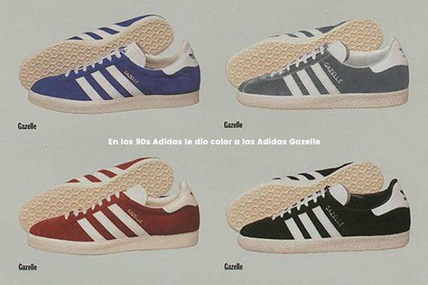 En la década de los 90 Adidas le dio color a las Adidas Gazelle