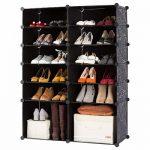 Zapatero modular Langria con capacidad para 24 pares de zapatos
