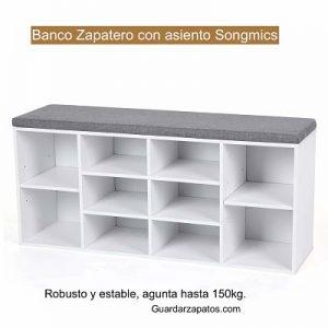 Banco Zapatero con asiento Songmics (lhs10wt)