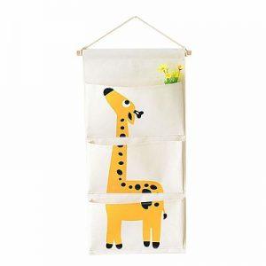 Zapatero colgante infantil de jirafa