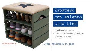 Zapatero con asiento Liza Line en azul
