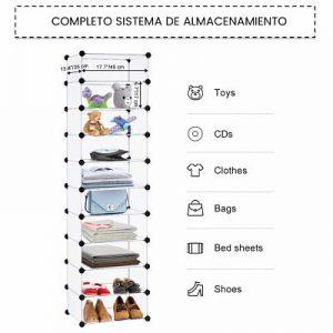 Zapatero modular langria perfecto para zapatos, juguetes, bolsos, ropa, etc…