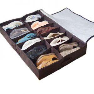 Organizador de zapatos para guardar bajo la cama