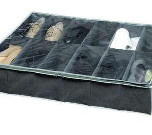 Análisis Zapatero para organizar zapatos bajo la cama compactor