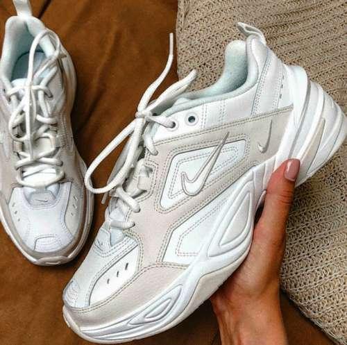 Nike m2k tekno blanco y gris