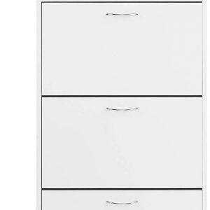 Zapatero blanco de 3 puertas Comifort