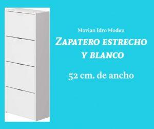 Zapatero estrecho y blanco Movian Idro Modern